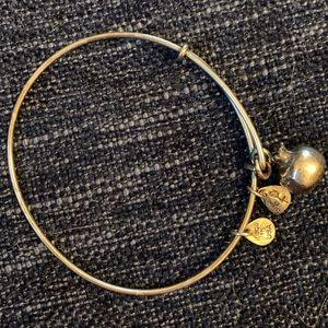 Alex and Ani Silver Pomegranate Charm Bracelet